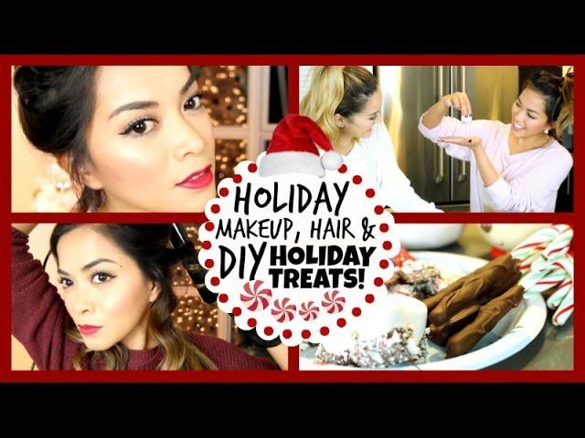 Holiday Makeup, Hair + DIY Holiday Treats! ❄