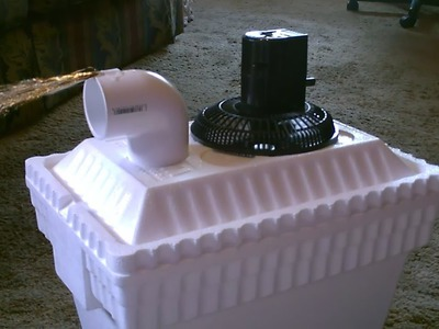 Homemade AC Air Cooler DIY - Can be Solar Powered! - Home.Auto Air cooler 40F Air! - 12VDC Fan