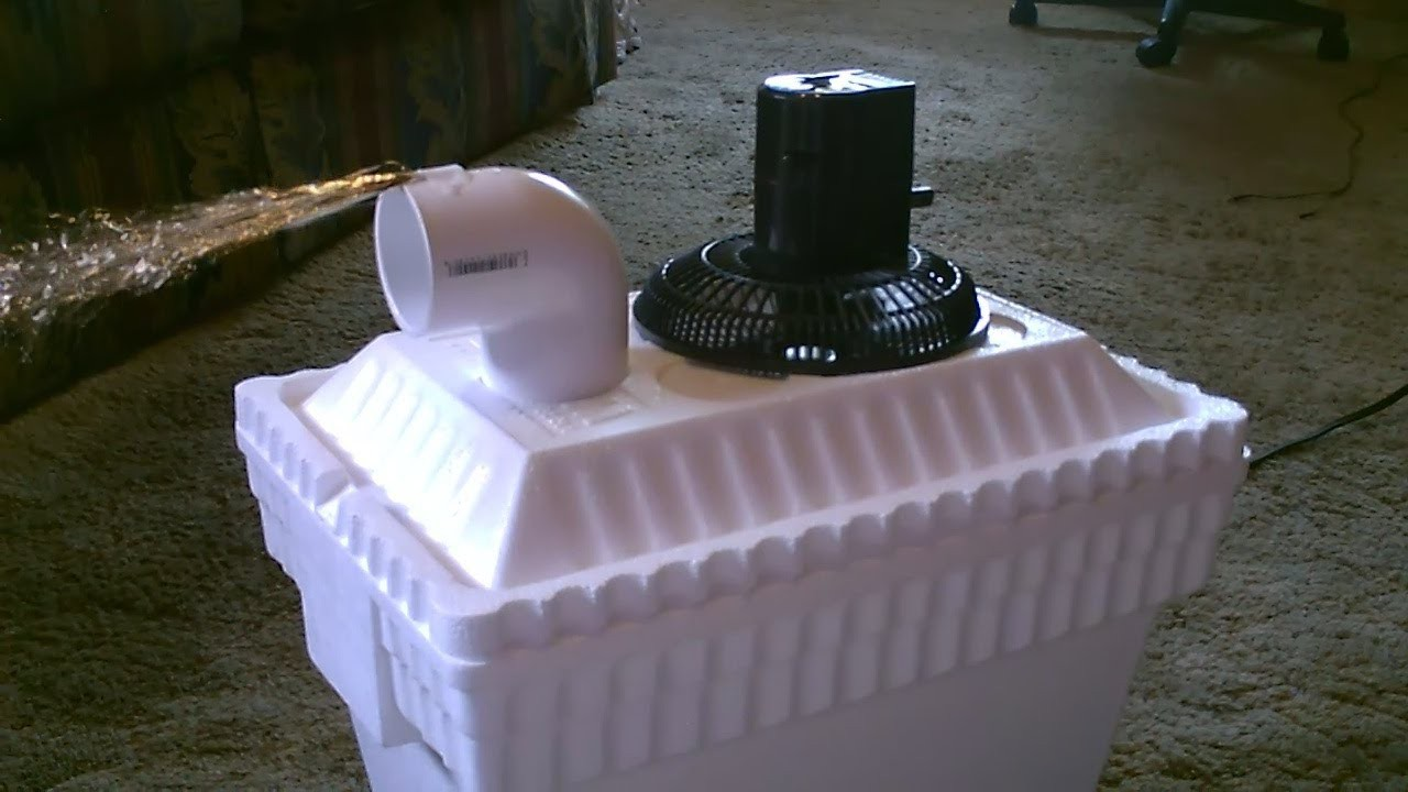 Homemade AC Air Cooler DIY - Can be Solar Powered! - Home.Auto Air cooler 40F Air! - 12VDC Fan