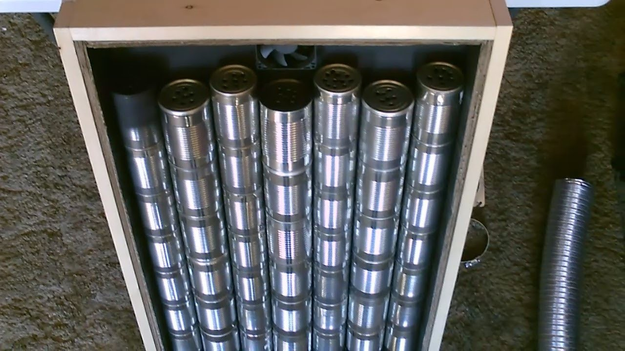 """Homemade """"Steel Can"""" Solar Air Heater! DIY - STEEL CAN Air Heater! (140F+) - EASY Instructions!"""