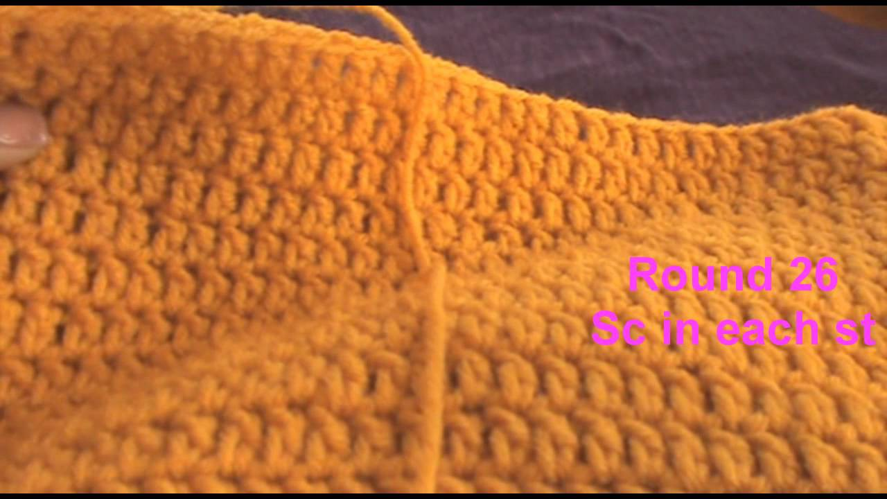 How to Crochet a Extra Slouchy Beanie pt 2