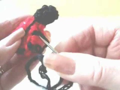 HOW TO CROCHET A LADYBUG APPLIQUE