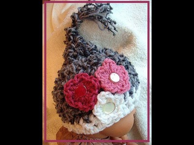 HOW TO CROCHET A PIXIE HAT, companion to diaper cover