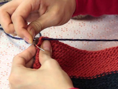 How to Do a Woven Flat Stitch & Back Stitch on a Knitted Garment : Knitting & Stitch Techniques