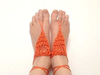 How to Loom Knit Barefoot Sandals (DIY Tutorial)