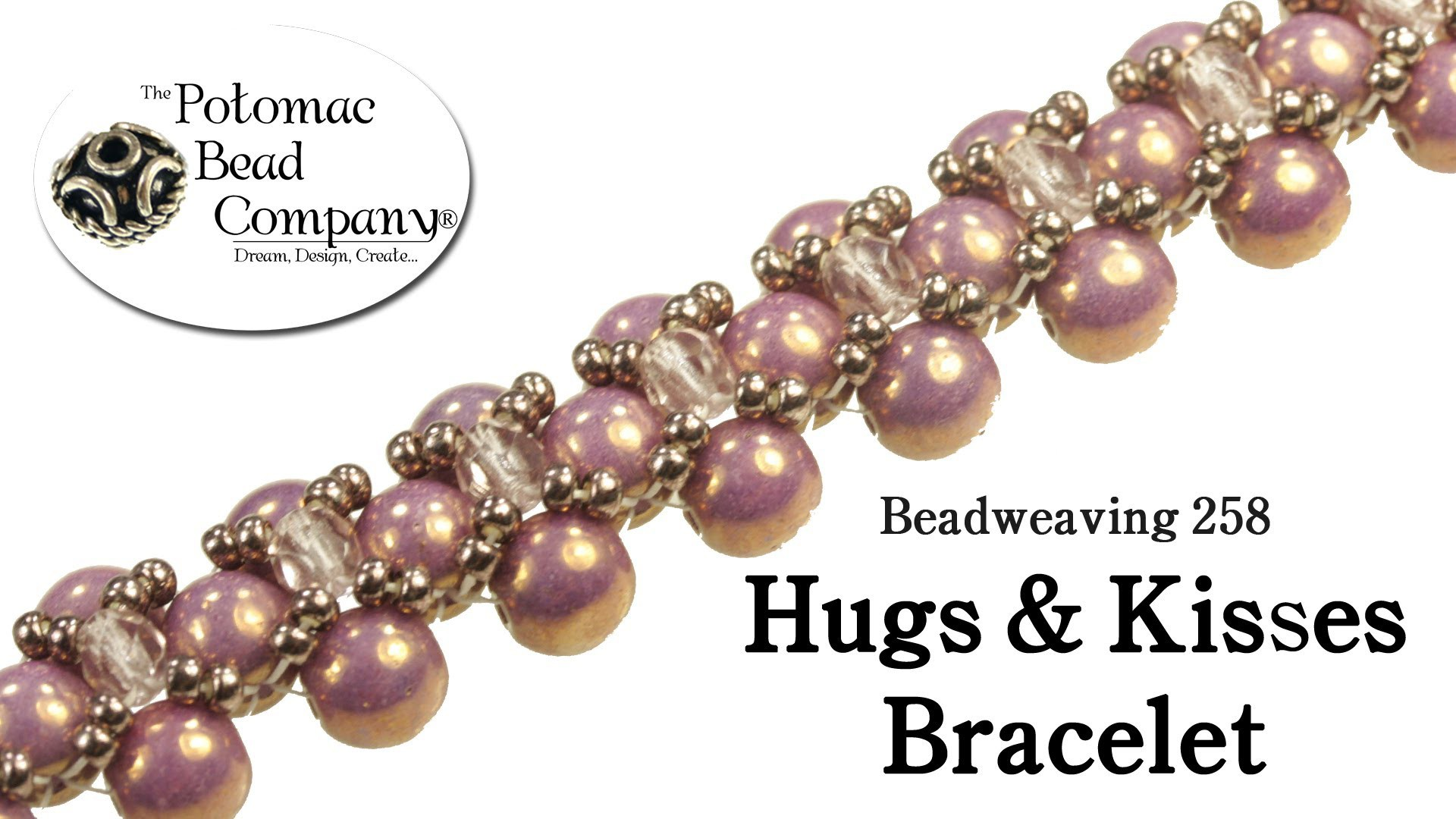 How to Make a Hugs & Kisses Bracelet or Necklace (Beadweaving 258)