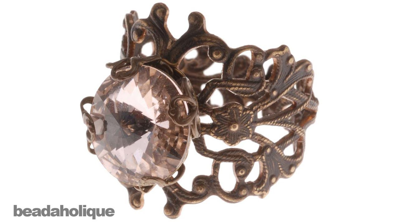 How to Make an Adjustable Filigree Ring