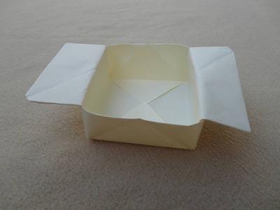 How to make an origami box - Cómo hacer una caja de papel