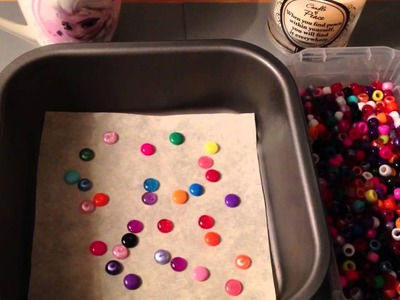 How to melt pony beads into little enamel dots