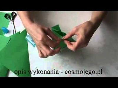 Jak zrobić choinkę origami - choinka z papieru - ozdoby świąteczne