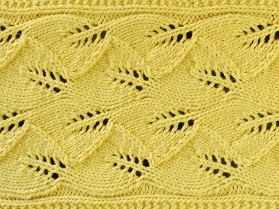 LACE LEAF SCARF -  Lace Knitting Repeat Explained Stitch by Stitch. Part 1
