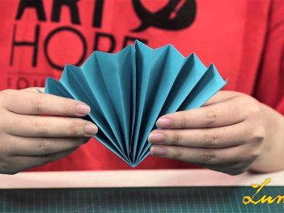 LunarFest Lantern DIY - Paper Fan Lantern
