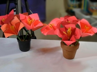 Natal: Flores de origami - Thanksgiving: Origami Flowers - Navidad: flores de Origami
