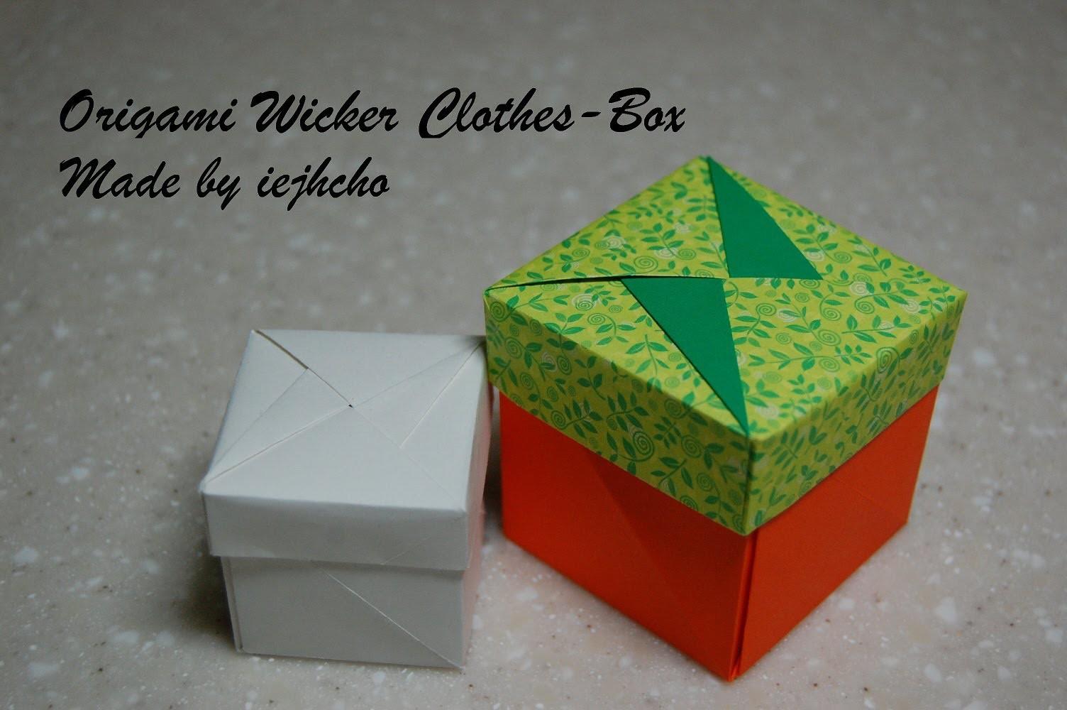 Origami Box(Wicker Clothes Box) Video. 종이접기 상자 접는 방법 동영상
