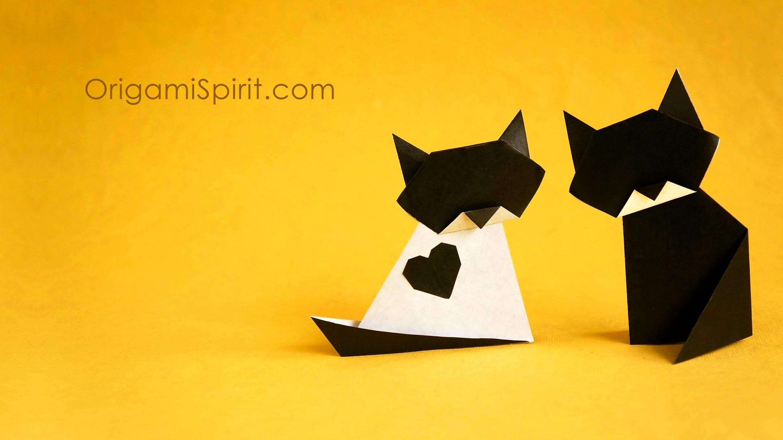 Origami Cat :: Gato :: Tradicional and Variation