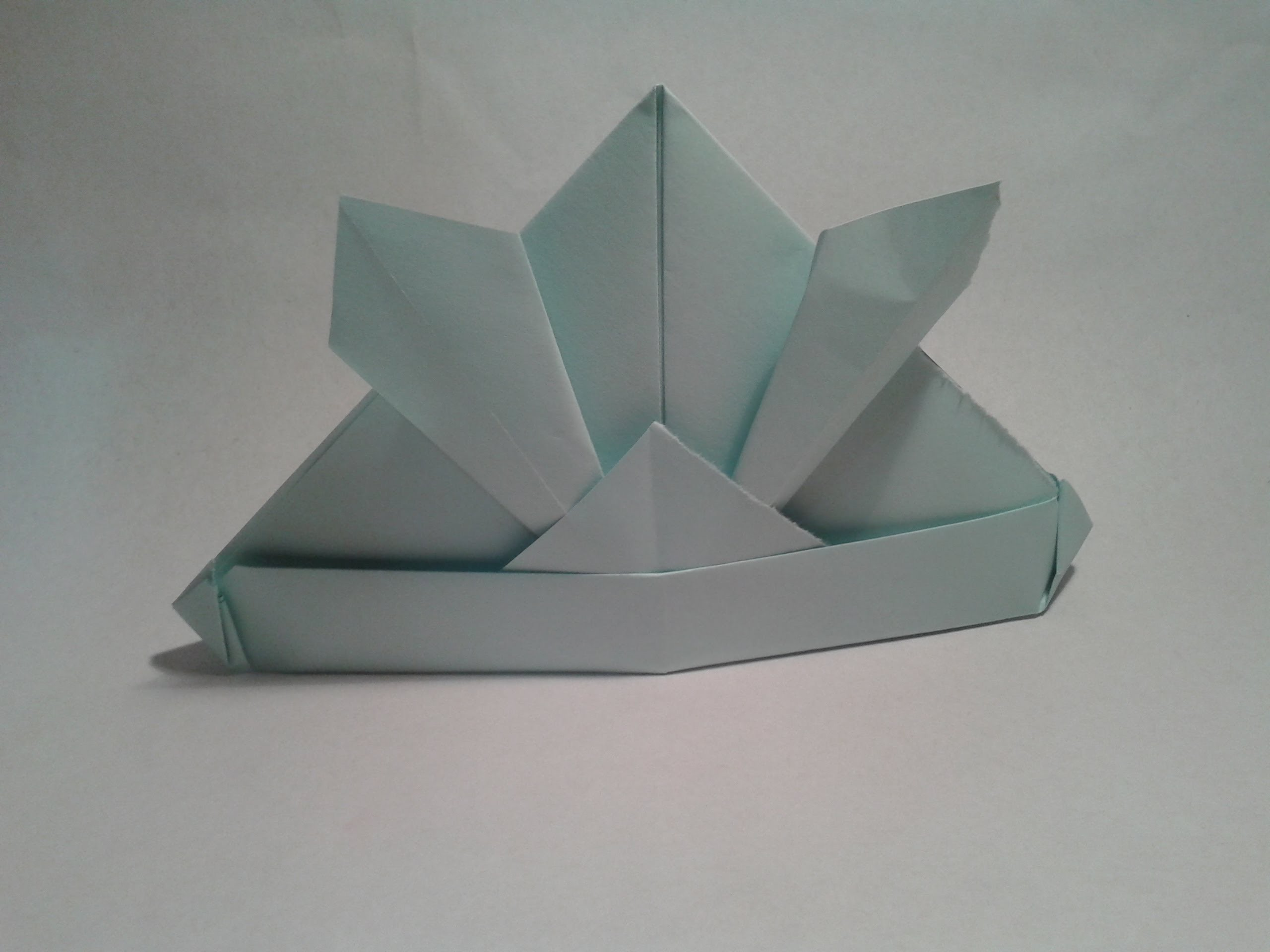Origami - How to make an easy origami samurai hat (origami ... - photo#48