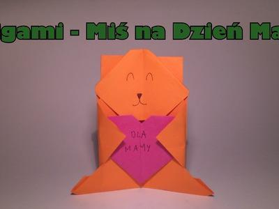 Origami - Miś na Dzień Mamy