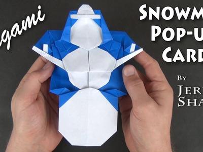 Origami Snowman Pop-up Card