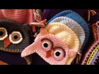 OWLS HAT crocheted by CROCHET FIRENZE - B.L.