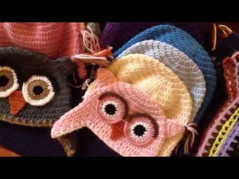 OWLS HAT crocheted by CROCHET FIRENZE - B.L.