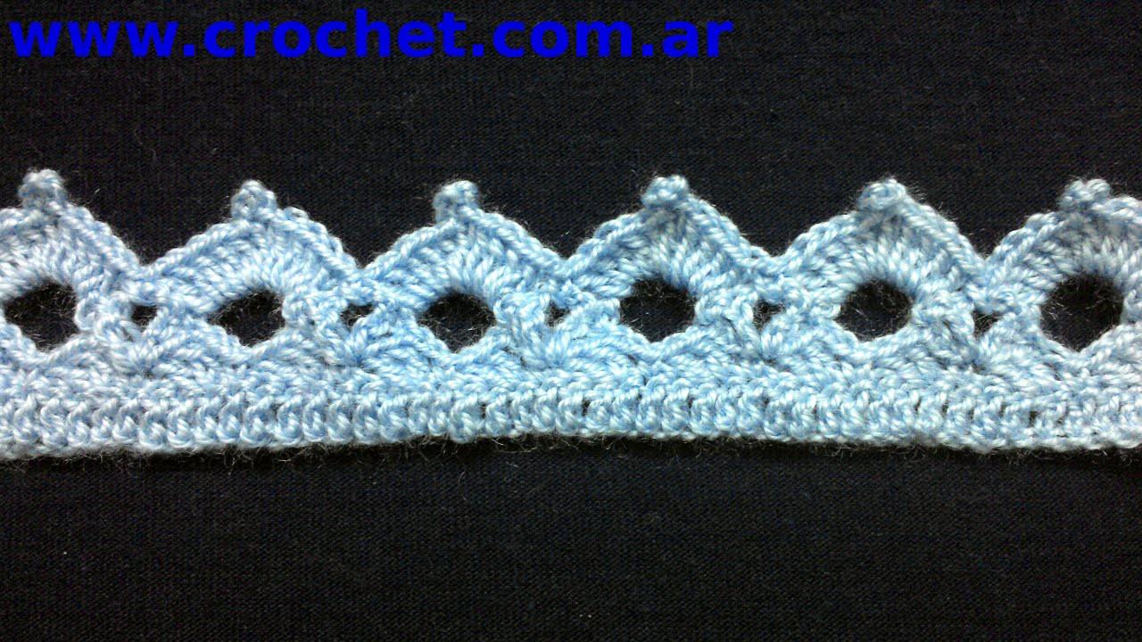 puntilla n 38 en tejido crochet tutorial paso a paso. Black Bedroom Furniture Sets. Home Design Ideas