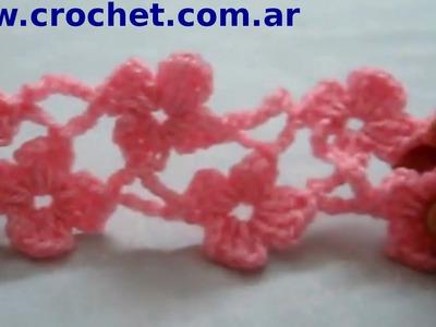 Punto Margarita (Parte 4) en tejido crochet tutorial paso a paso .