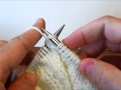 Purl Stitch - Left Handed - English style
