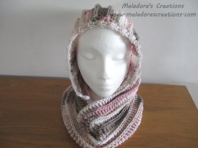 Riptide Hooded Cowl - Left Handed Crochet Tutorial