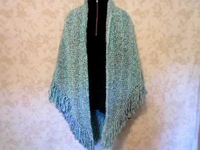 Shawl - Knit with Lion Brand Homespun Yarn, Waterfall