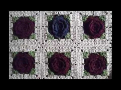 T&P - Burberry Flowers - Crochet. Ganchillo - Manta. Afghans