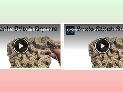 Today's Recommended Video Crochet Crocodile Stitch & Louie's Loops Shoutout