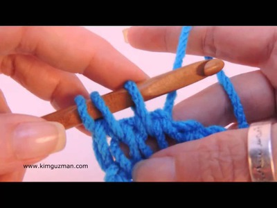 Tunisian Crochet: Knit Stitch (Left Handed)