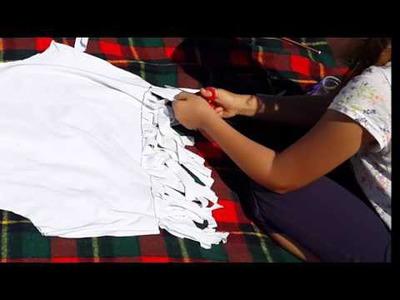 Tutorial DIY - Tricou de vara.crop top personalizat