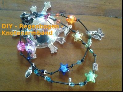 Tutorial: Knotenarmband und GiveAway. DIY. Geschenk. Rainbowclour Knot-Bracelet