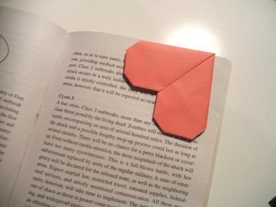 Valentine's Origami Bookmark (Heart)