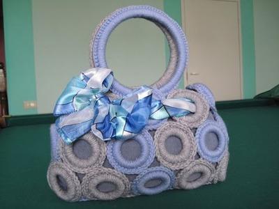 Вязаная сумка. Из колец. Мастер-класс. Crochet Handbag. Tutorial