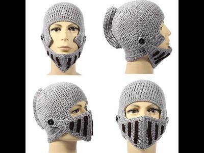 Winter Warm Roman Knight Soft Hat Gladiator Mask Knitting Girl's Men Women Cap from banggood.com