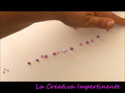 Wire Crochet - Bijoux con l'Uncinetto n° 3 - Tutorial catenella con perle e paragoni
