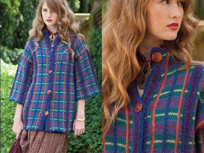 #7 Plaid Coat, Vogue Knitting Fall 2013