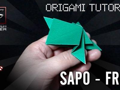 Aprenda fazer um Sapo em Origami - Frog Origami Tutorial - SHINDIMASTER