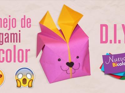 Aprende a realizar un Conejo Bicolor de Origami