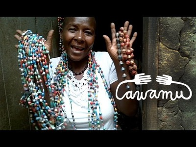 Awamu video - Sarah shows you how she make recycled paper beads