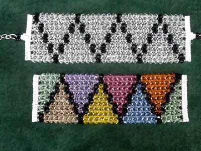 Beading4perfectionists : Herringbone stitch: Doing it with Swarovski - beading tutorial