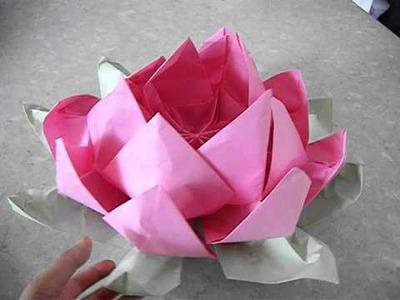 Biggest Origami Lotus Flower so far