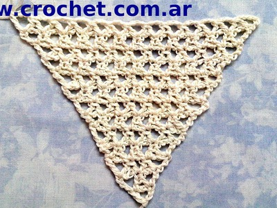 Chal triangular en tejido crochet tutorial paso a paso.