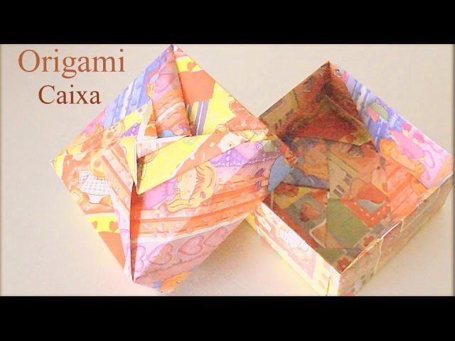 Como fazer uma CAIXA de papel Origami Dobradura Papiroflexia