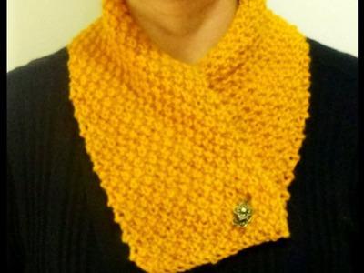 Cómo Tejer Bufanda Corta-How to Knit Cowl 2 Agujas (235)
