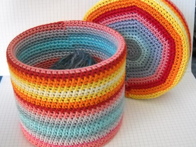 Crochet a Colourful Round Box - DIY Crafts - Guidecentral