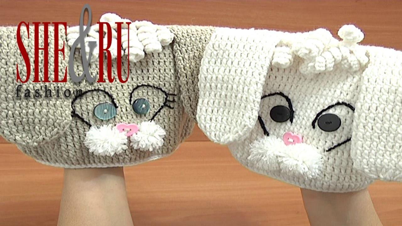 Crochet Bunny Hat Tutorial 1 Part 1 of 3  Crochet sombrero del conejito