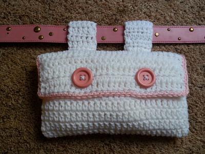 #Crochet Easy Fannie Pack for Belt #TUTORIAL